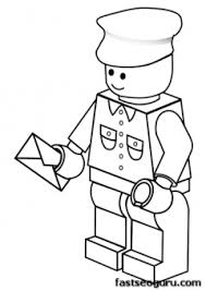 Printable Lego Postman Coloring Pages For Boy