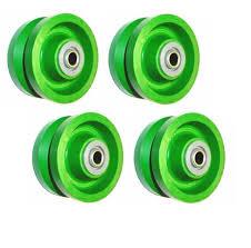 Set Of 4) Solid Green Polyurethane 4