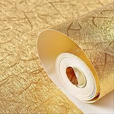 goldene tapete moderne einfache wohnzimmer gold folie tapete