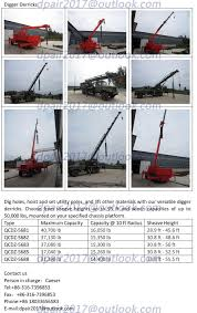 Digger Derrick Trucks 360 Degree Tractor Crane - Buy Digger Derricks ...