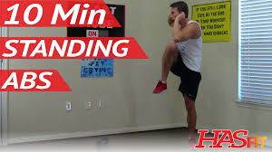 10 Min Standing Ab Workout HASfit Standing Ab Exercises