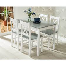Solid Pine Wood Dining Table & 4 Chairs Set - White Details About Ding Table And 4 Chairs Set Solid Pine Wooden Kitchen Home Fniture White Life Carver Wood 118cm Large Contemporary Funiture 118 76 73cm Canterbury With Bench Solid Pine Ding Table Chairs Yosemite 5 Piece Round Side Ivory Charm X90cm Salto With And Room Sets 1 Corona Costway 5pcs Brown Rakutencom Yakoe