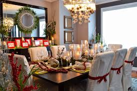elegant christmas wreaths dining room traditional with dark wood