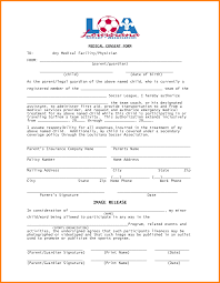 Child Medical Consent Form Template Sample Authorization Letter