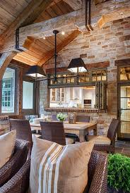 rustic dining room with flush light glass panel door zillow