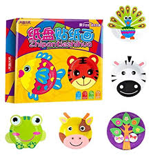 Children 3D Puzzle DIY Toy Paper Plate Paste Sticker Handwork Gifts