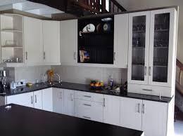 Balsa Melamine Kitchen Johannesburg With Wooden Top White