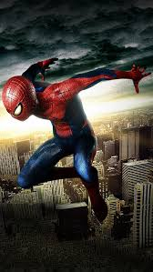 Spiderman in the air iPhone 5 Wallpaper 640x1136