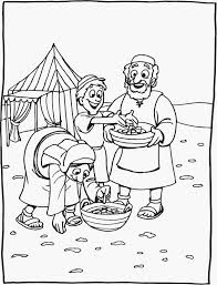 Bible Story Coloring Pictures God Fed Them With Manna Clip Art Download Joyful Expressions Our Daily Bread And Play Day W Phylly