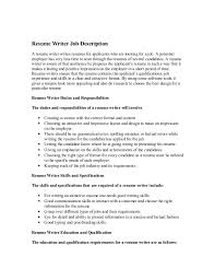 Resume Writer Job Description A Writes Resumes For Applicants Who Are Looking