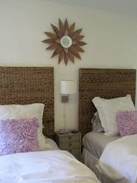Seagrass Headboard And Footboard by Furniture Seagrass Headboard With White Bedding For Neutral