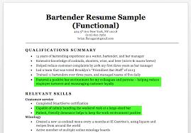 Fancy Good Bartending Resume Example On Bartender Sample Writing Tips Of