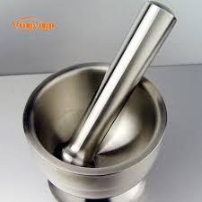 mortier de cuisine vogvigo presse ail pot herb mills poivre moulin à épices en acier