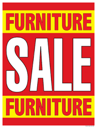 Sale Signs Posters Furniture Red Yellow
