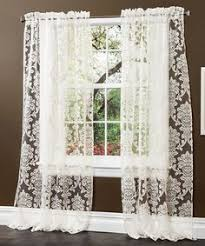 Linden Street Curtains Madeline by Threshold Woven Damask Curtain Panel Black White 54x84 34 99