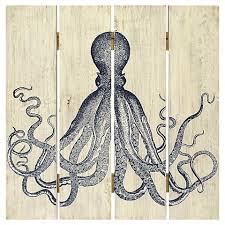 plank art octopus home decor wall decor from target for the