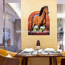 großes rotes pferd durch das fenster wanda uf kleber badezimmer fenster tür wohnzimmer wand dekoration abnehmbare vinyl wanda uf kleber buy große