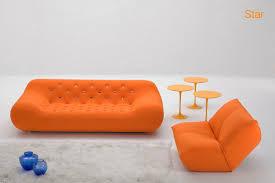 canapé tissus design canapé design original en tissu 3 places orange by