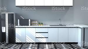 Modern White Kitchen Interior 3d Rendering Stockfoto Und Küchenschrank Innen Kochen Weißen Tisch Moderne Küche Restaurant 3d Rendering Wohndesign Für Kopie Raum Hintergrund Stockfoto Und Mehr Bilder