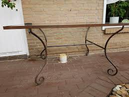 tisch mit glasplatte und eisengestell wohnzimmer esszimmer garten