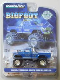 100 Ford Monster Truck BIGFOOT 1 MONSTER TRUCK 1974 FORD F250 Hobby Edition GREENLIGHT