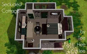mod the sims secluded cabin a starter cottage for two