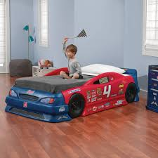 step2 stock car convertible toddler to twin bed walmart com