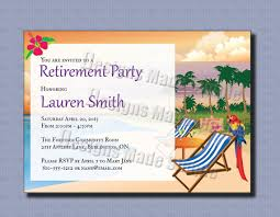Retirement Party Invitation Beach Themed Custom Printable