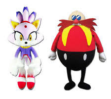 blaze the cat plush sonic the hedgehog dr eggman ebay