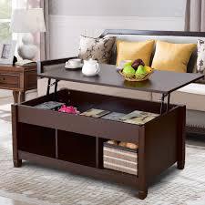 Dark Brown MidCentury Modern LiftTop Coffee Table DYNKdecor