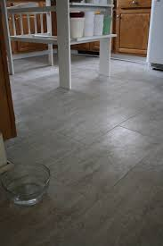 grouted vinyl tile kitchen floor with coffee bean color vinyl