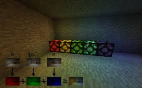 Minecraft Redstone Glowstone Lamp by I Have Real Implementable Algoritm For Colored Light Without