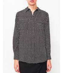 polka dot shirt black