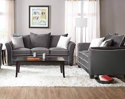 Nolana Charcoal Sofa Set by Bing Ash Sofa And Loveseat Set Fabric Living Room Sets