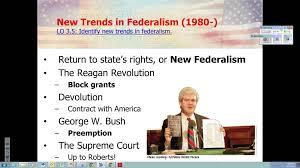 Ch 3B New Federalism