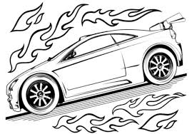 Hot Wheels Car Coloring Page
