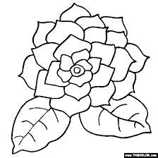 Gardenia Flower Online Coloring Page