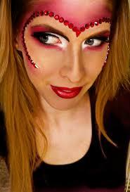 Halloween Half Mask Ideas by Meredith Jessica Makeup Queen Of Hearts Halloween Look Tutorial