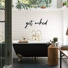 hoagard wandzitat aus metall get badezimmer