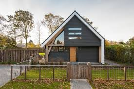 Pitched Roof House Designs Photo by Simple Modern House Design With Wood Construction As A Basis