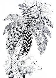 Adult Coloring Page Summer Palm Tree 8