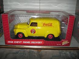 100 1948 Chevy Panel Truck Johnny Lightning Chevrolet Cocacola 1 18 MIB EBay