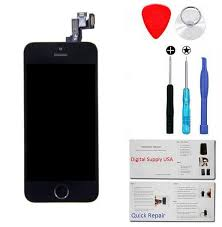 iPhone 5S Screen Replacement Kit Digitizer LCD Black or White