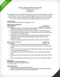 Management Resume Examples Project Manager Sample Writing Guide Samples Objective