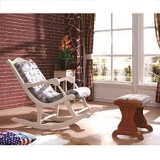 Bafei Li Mediterranean Furniture Sofa Big House Simple Rustic Rocking Chair Fabric Living Room Set