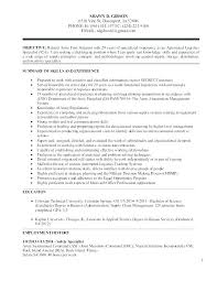 Sample Resume Of Military Experience Together With To Civilian Examples
