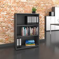 uni regalschrank 3 oh 800 x 1143 mm anthrazit büroeinrichtung kaufen bei weberbüro