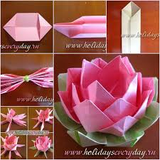 How To DIY Origami Paper Lotus Flower
