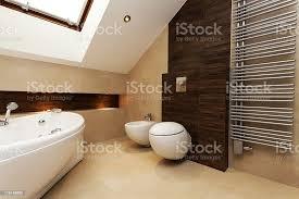 braun und creme badezimmer stockfoto und mehr bilder architekturberuf