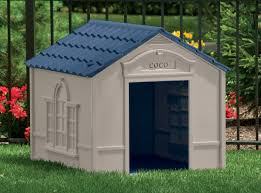 Suncast Garden Shed Taupe by Suncast Deluxe Dog House In Taupe U0026 Blue U0026 Reviews Wayfair